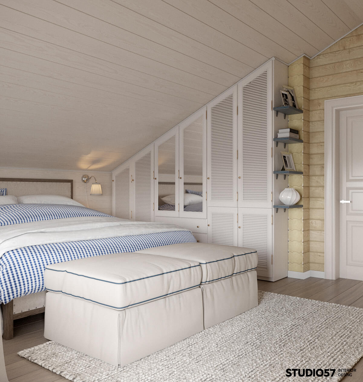 Оформление спальни в доме фото
