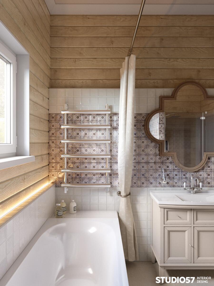 Ванны комнаты дизайн плитки