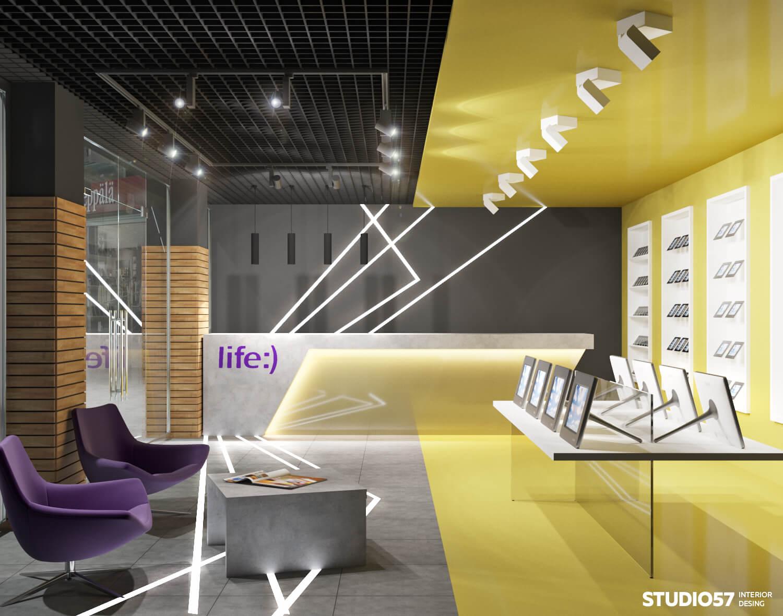 Дизайн салона мобильных телефонов