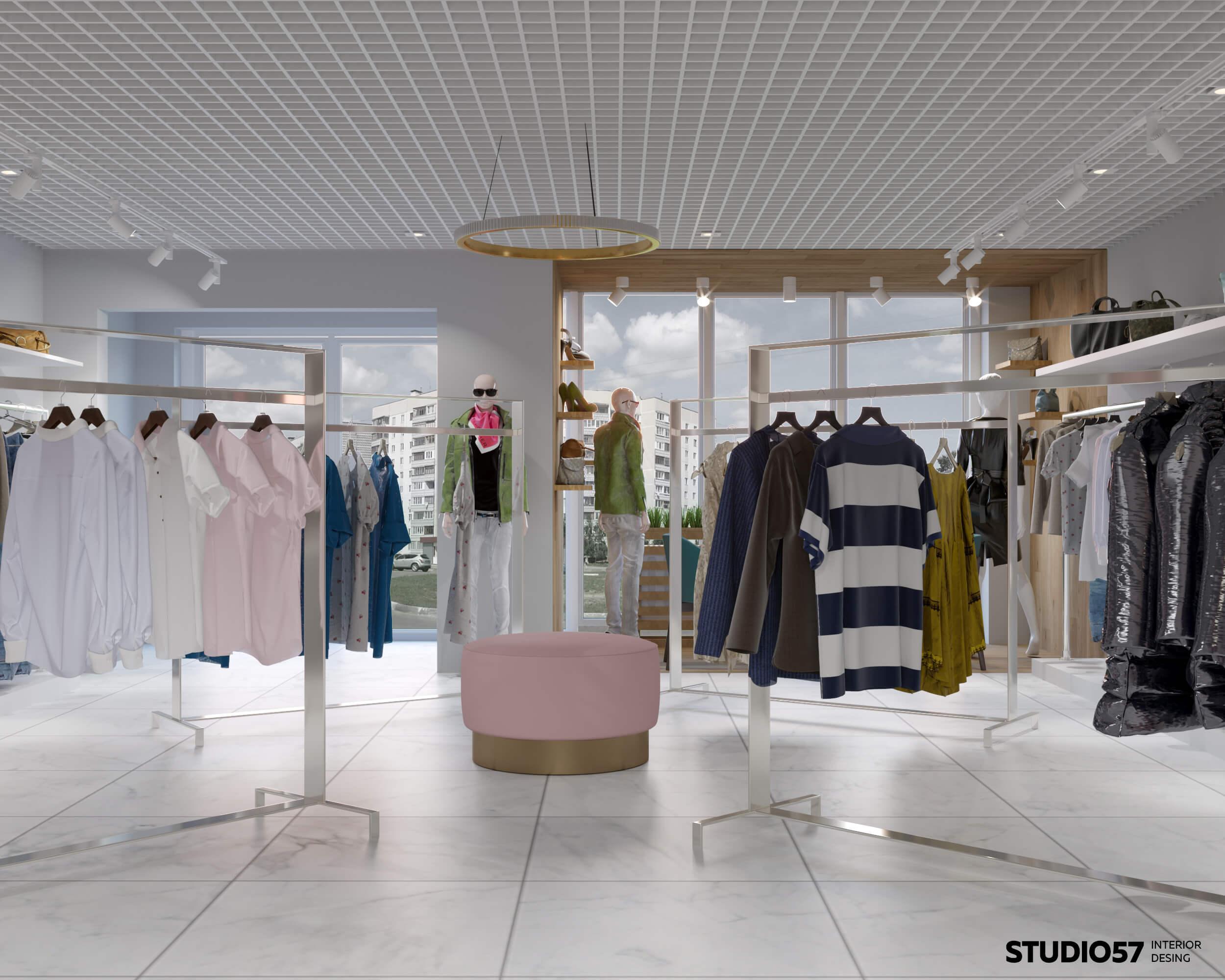 дизайн бутиков одежды фото