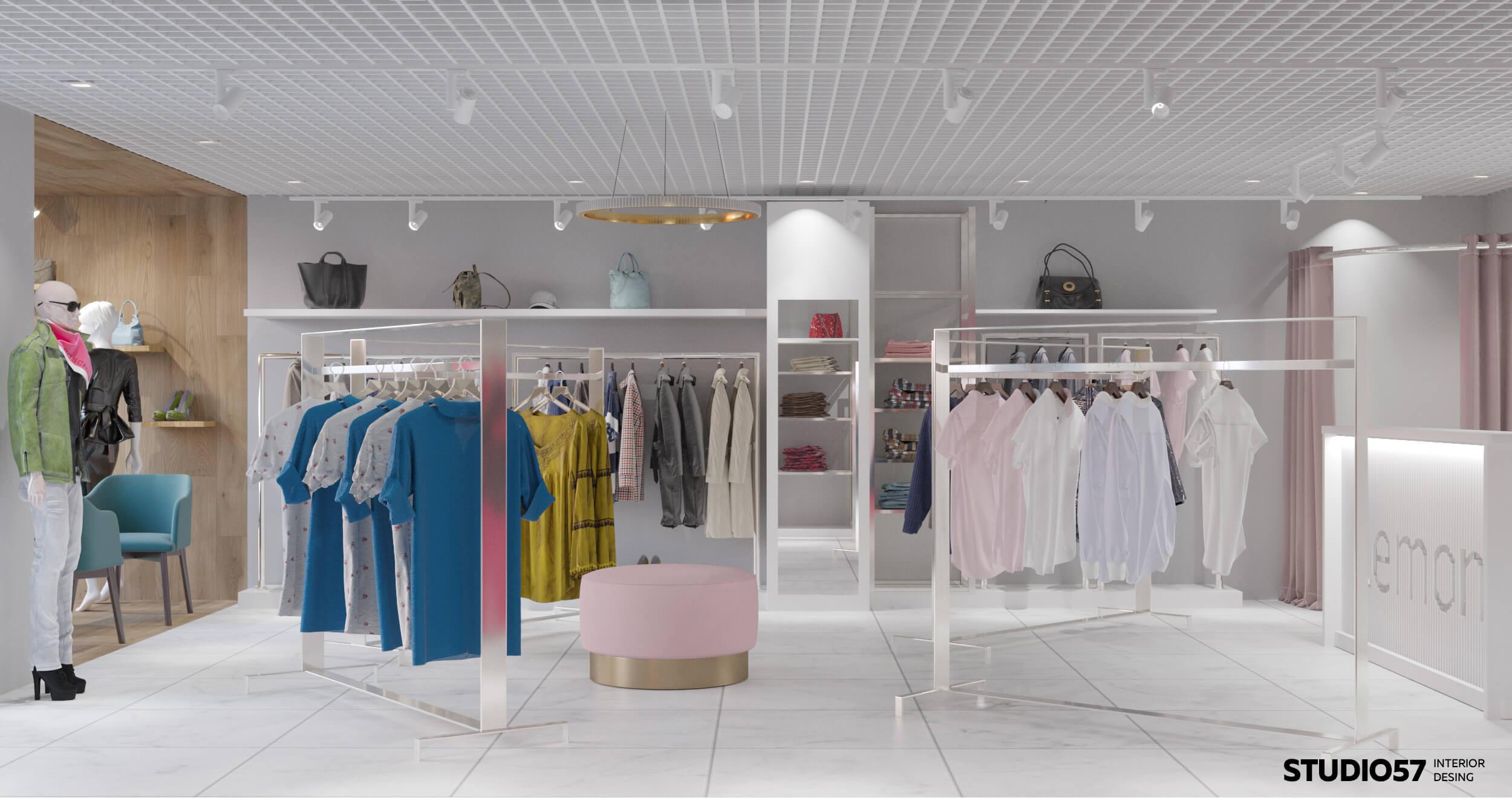 дизайн бутиков одежды