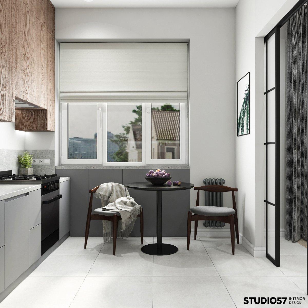 Стол на двух персон на кухне