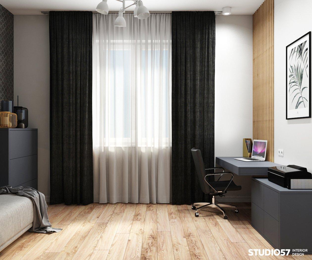 Гостевая комната в трёхкомнатной квартире