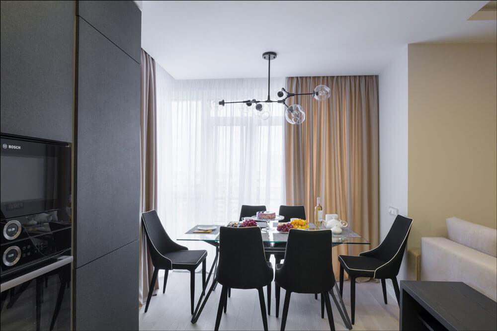 Фото квартиры с реализованным дизайн-проектом