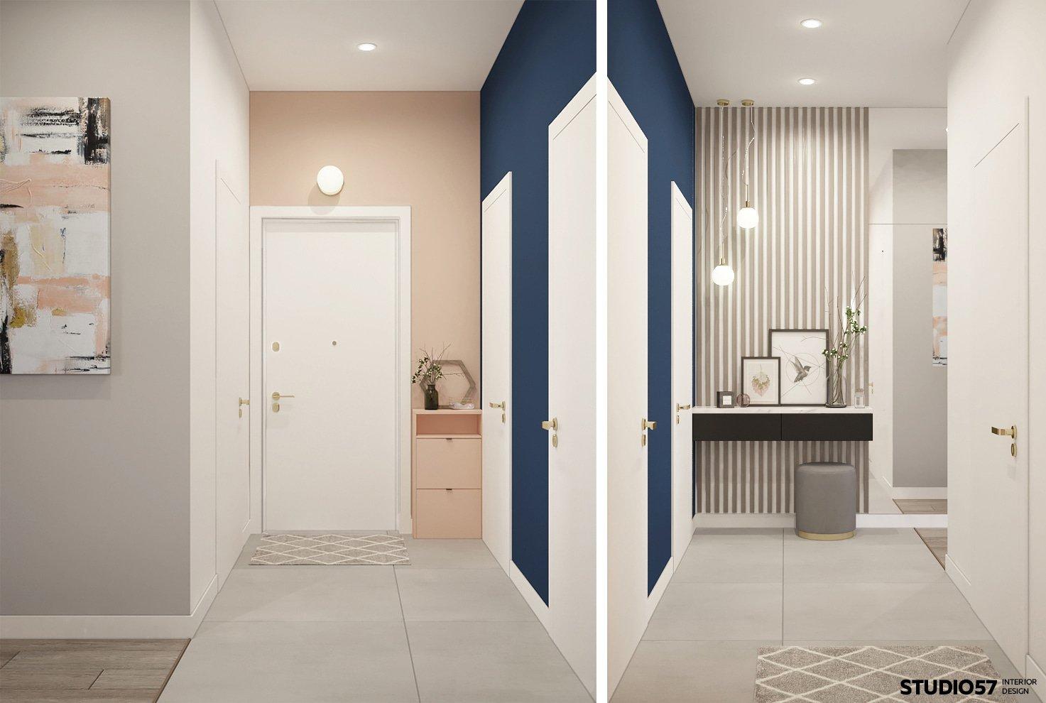 Дизайн прихожей квартиры свободной планировки