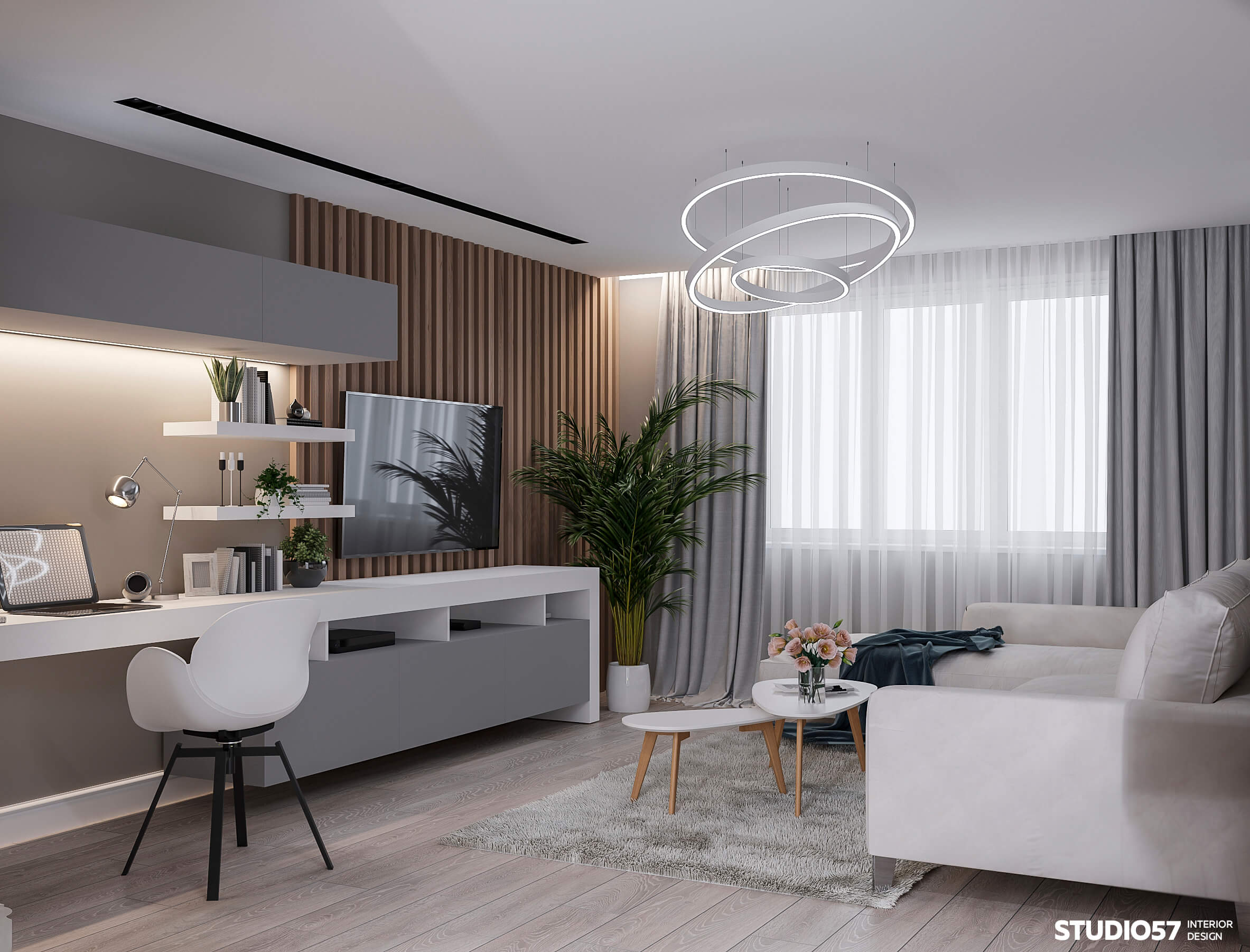 Дизайн квартиры 56 м.кв.