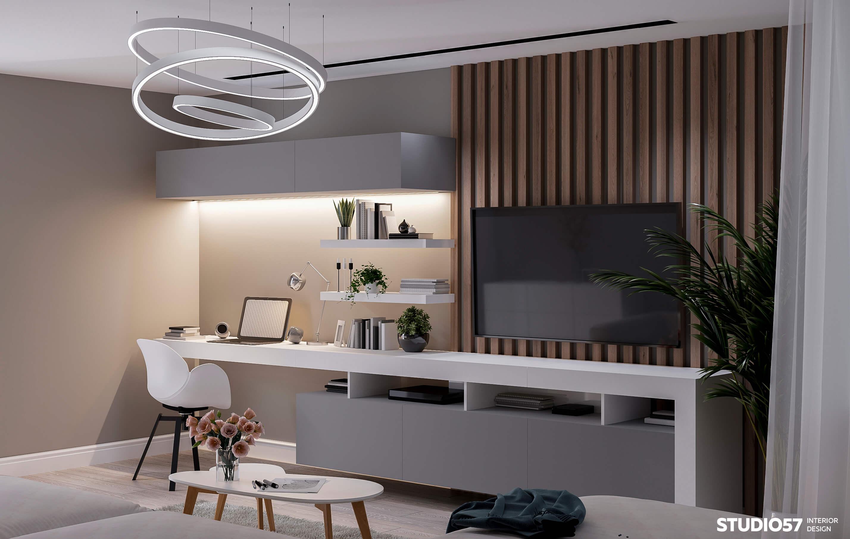 дизайн квартиры 56 м