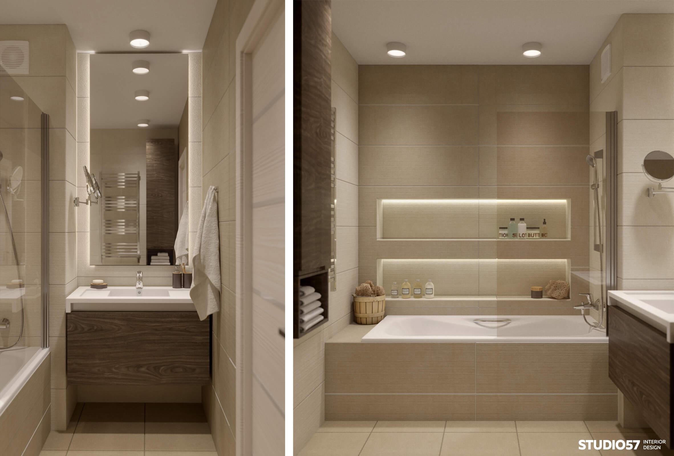 Ванная комната с рукомойником Roca