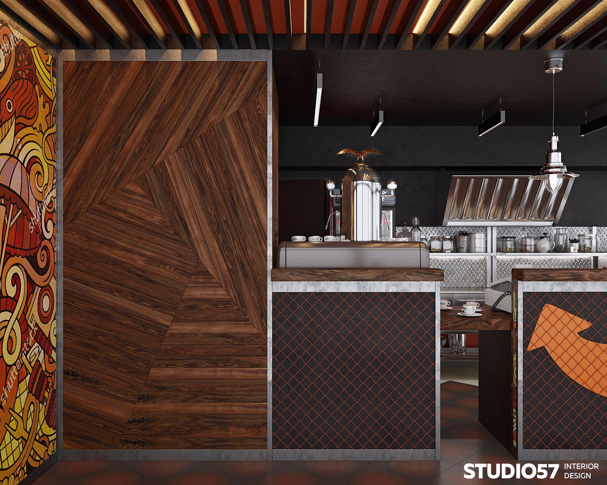 дизайн интерьера кафе +в стиле лофт