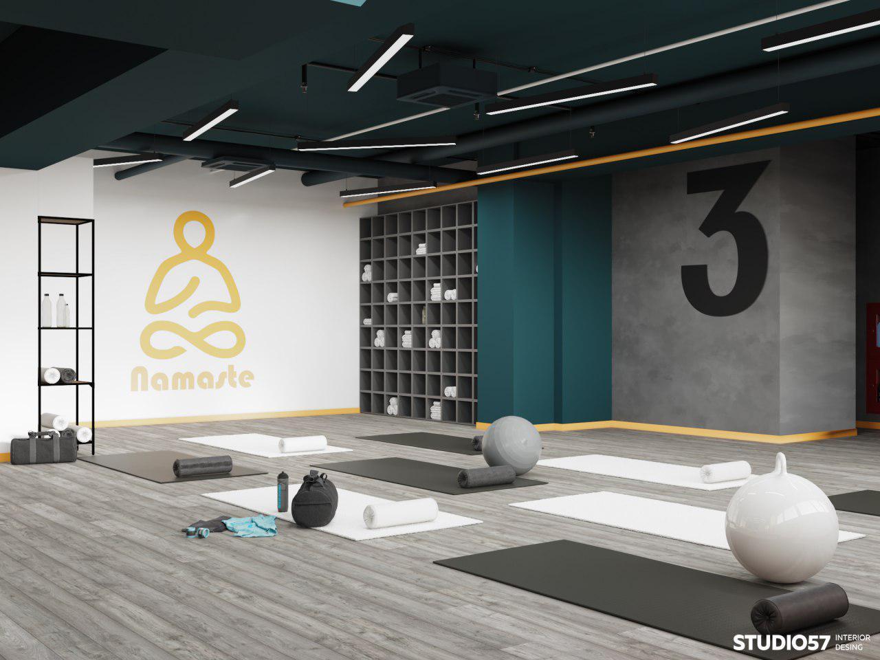 фитнес залы интерьер йога фото