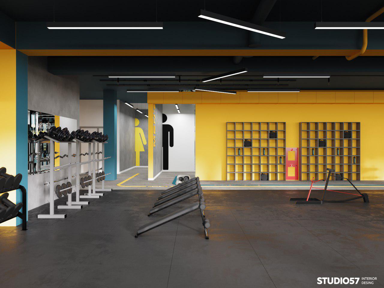 интерьер фитнес зала картинка