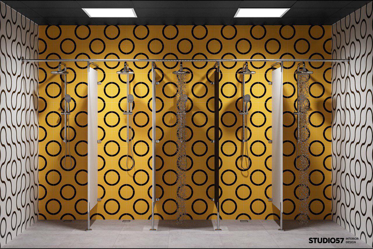 Душевые кабины в тренажёрном зале фото