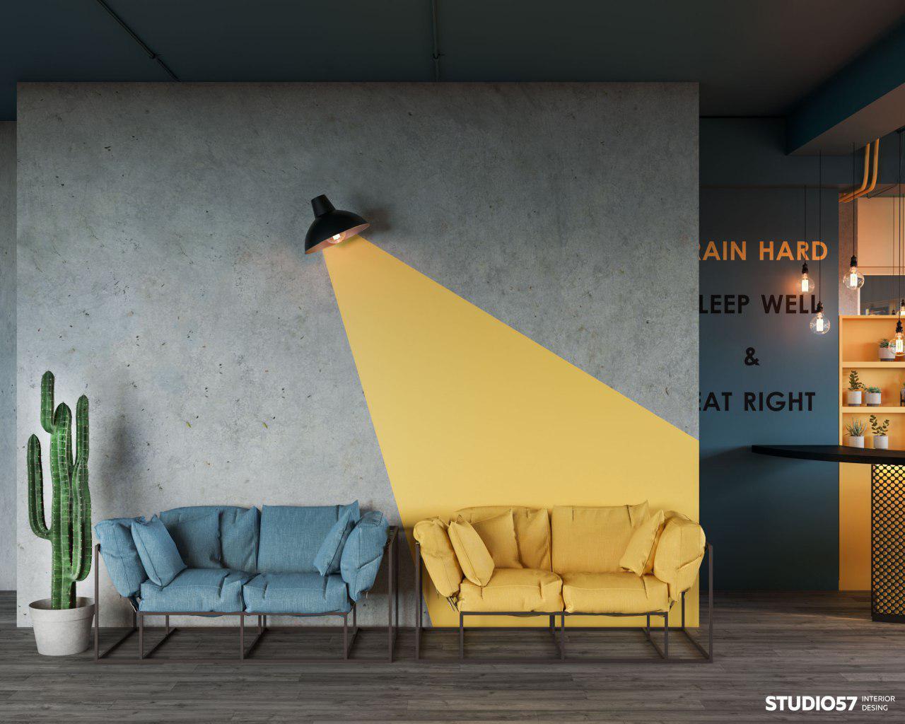 Дизайнерское решение тренажёрного зала