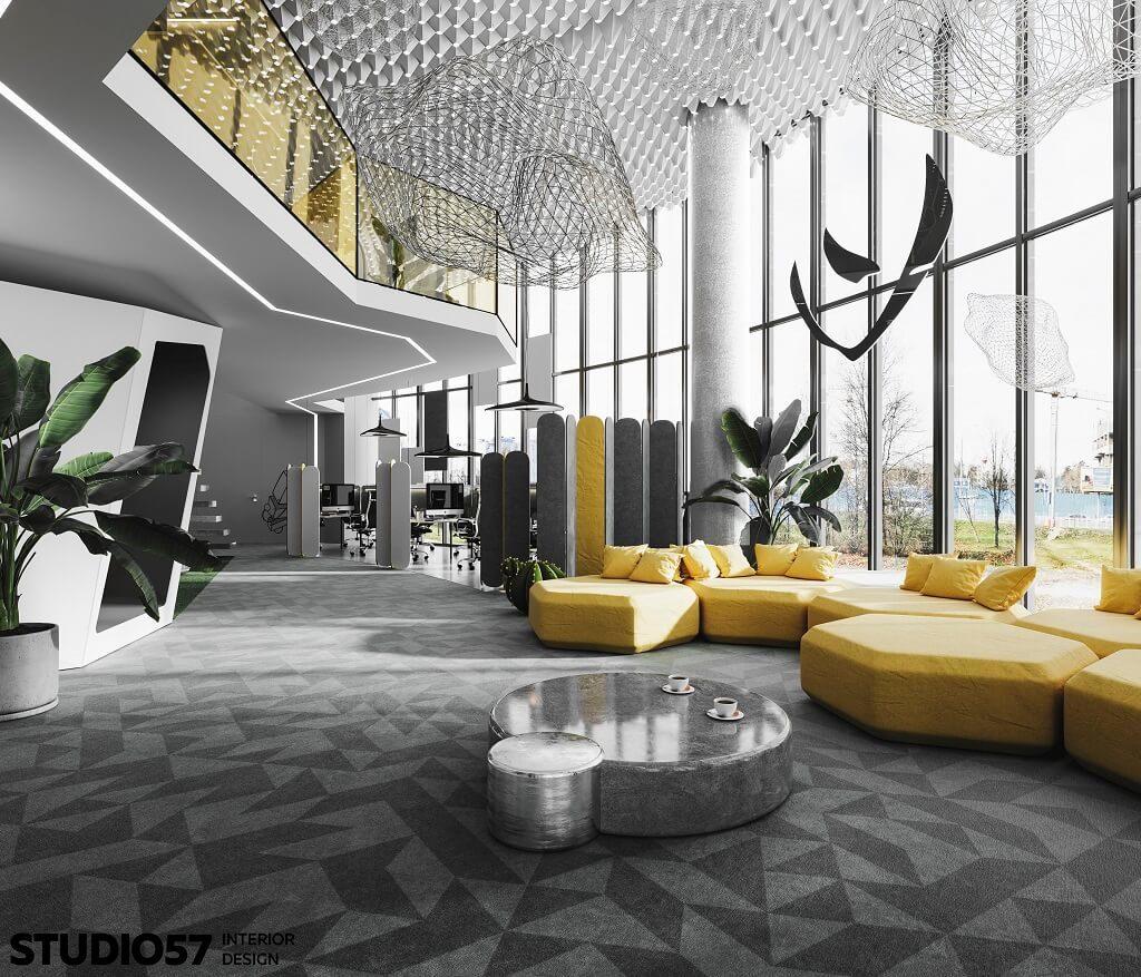 Дизайн офиса. Вид 1.