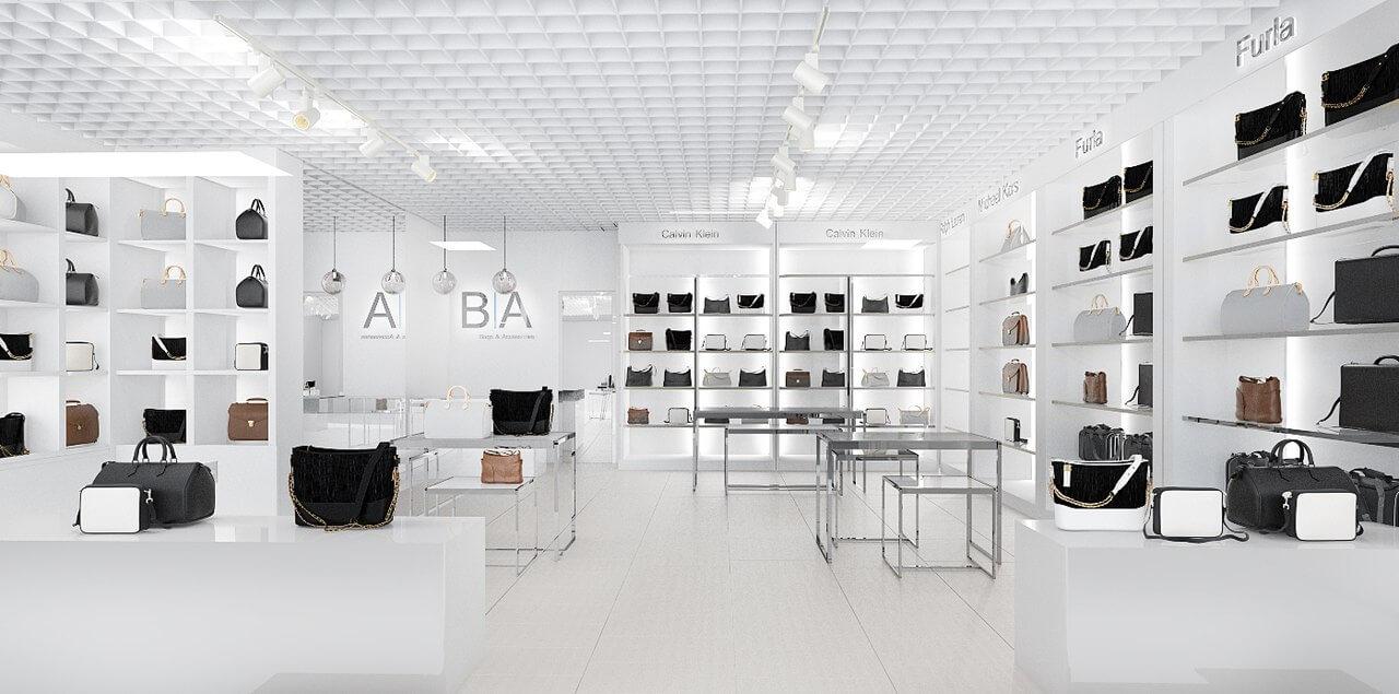 Дизайн торгового зала. Вид 1