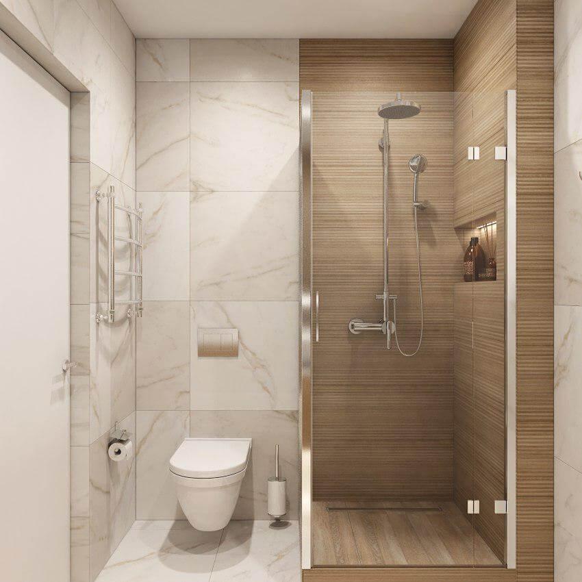 Ванная комната. Душевая кабина. Вид 1
