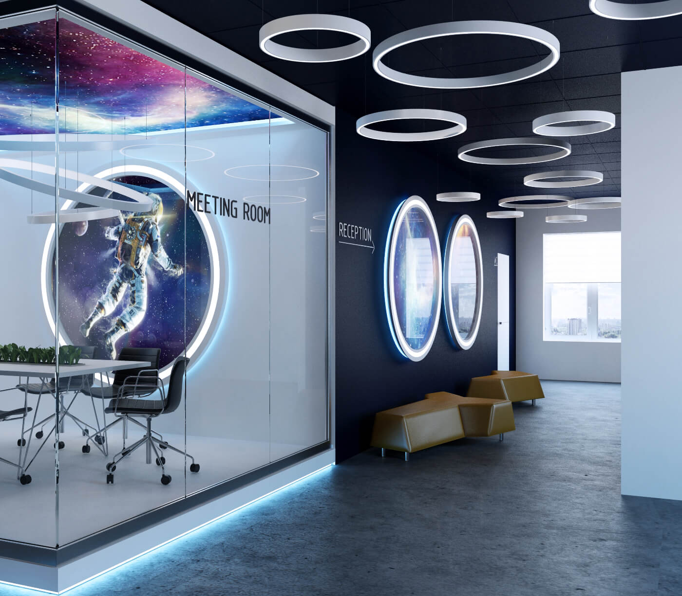 "Softline - дизайн холла в стиле ""Space"""