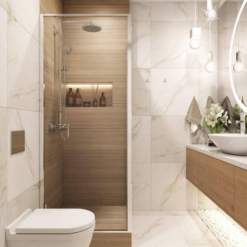 Ванная комната. Душевая кабина. Вид 2