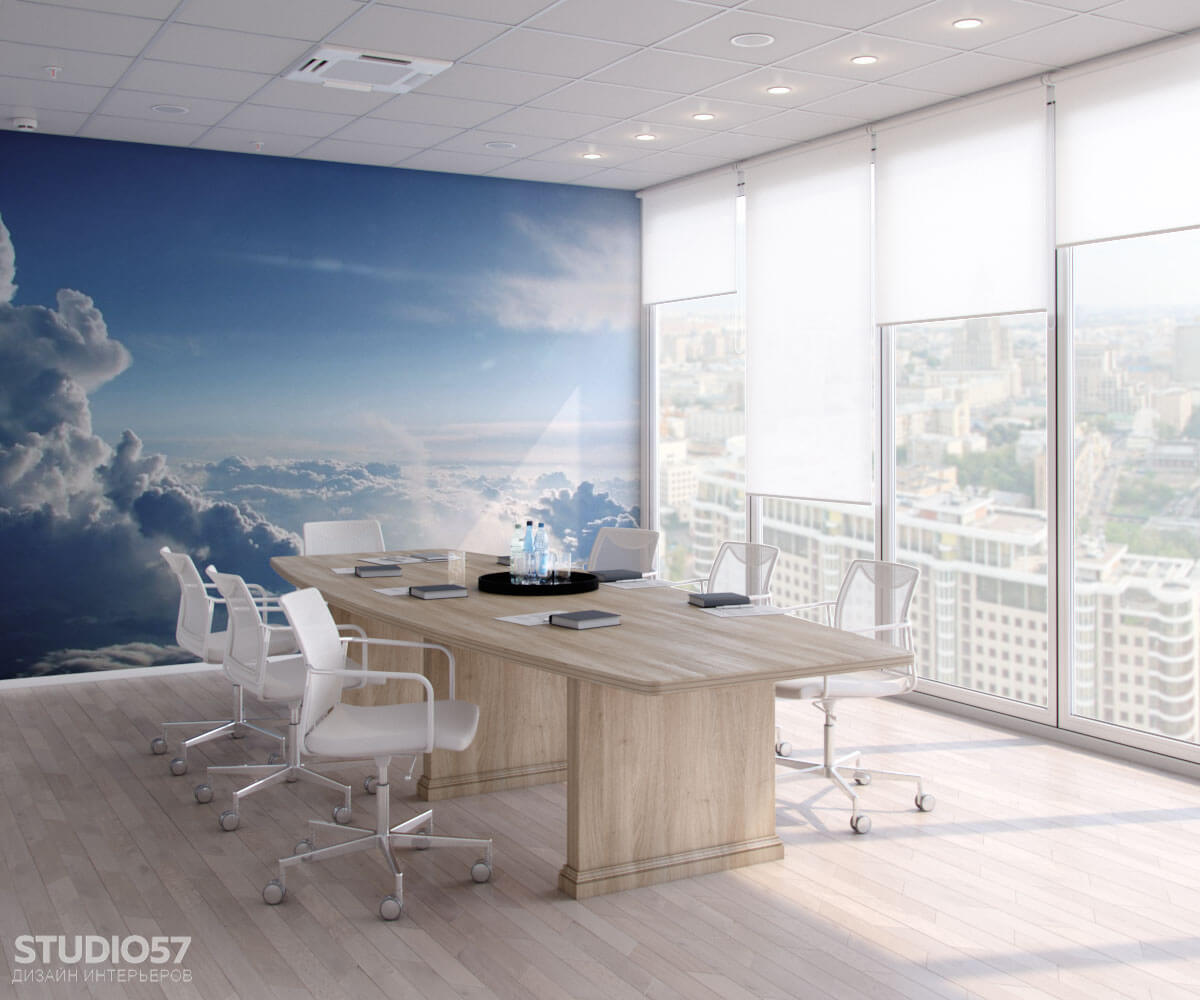 Softline - дизайн комнаты переговоров. Вид 1