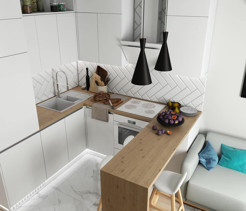 Гостиная. Кухонная зона