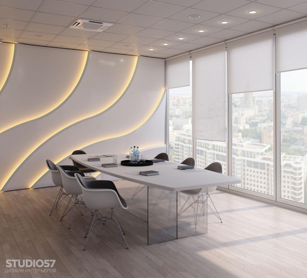 Softline - дизайн комнаты переговоров. Вид 2