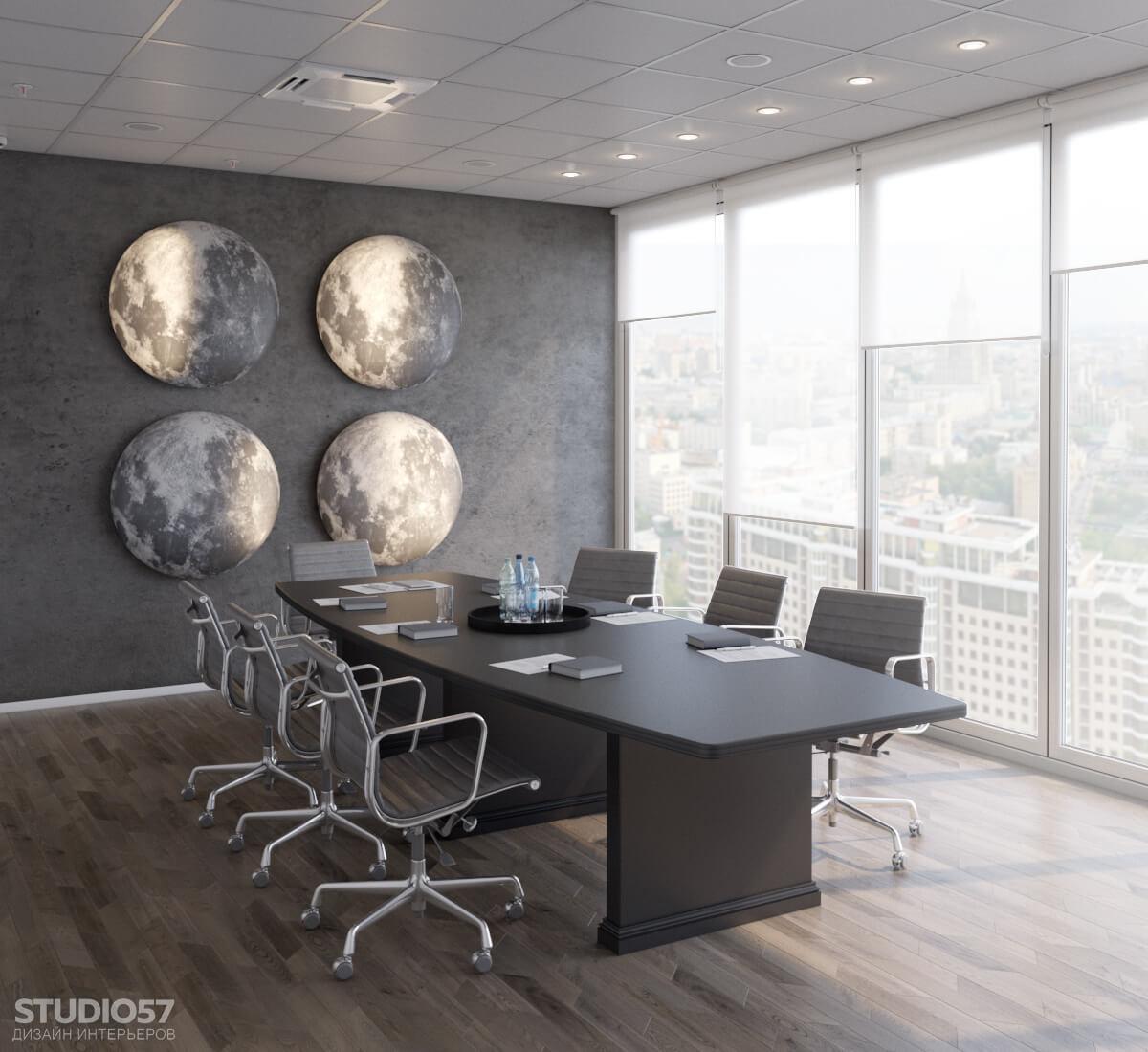 """Softline - дизайн комнаты переговоров в стиле """"Space"""""""