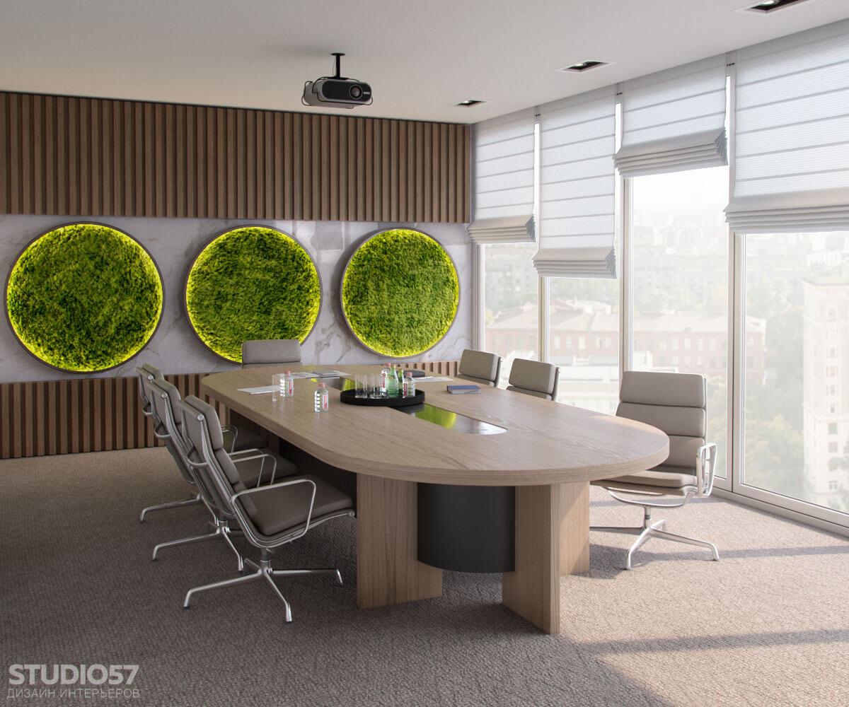 Softline - дизайн комнаты переговоров в эко стиле