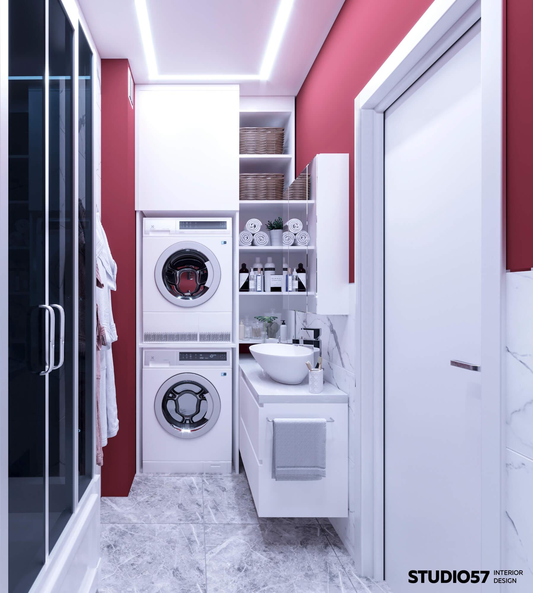 Ванная комната. Вид 4. Постирочная зона