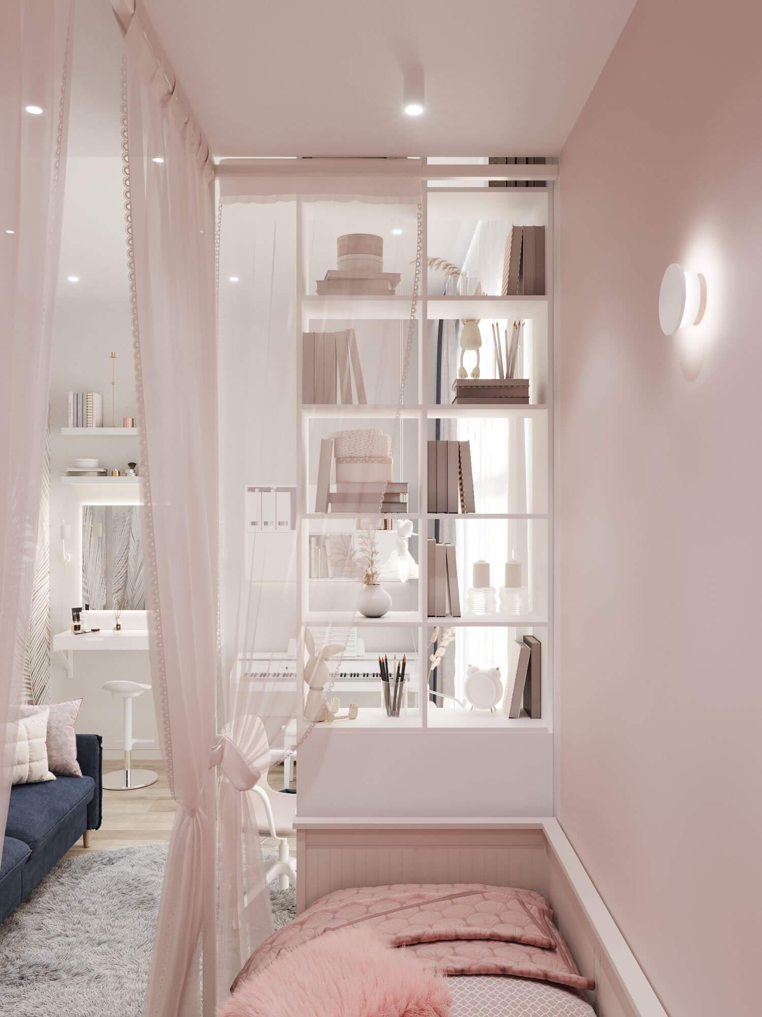 Дизайн детской комнаты.Зона отдыха. Вид 1.