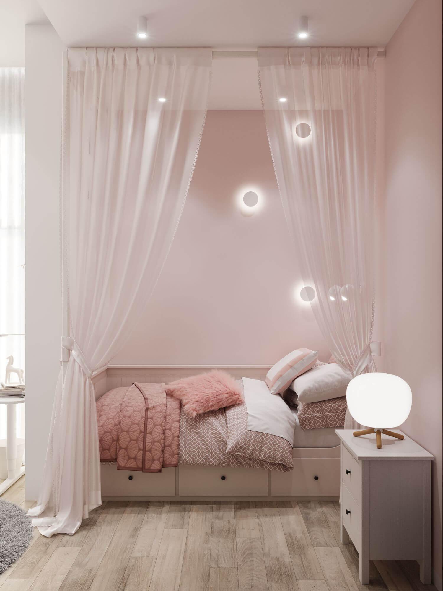 Дизайн детской комнаты. Зона отдыха Вид 2.