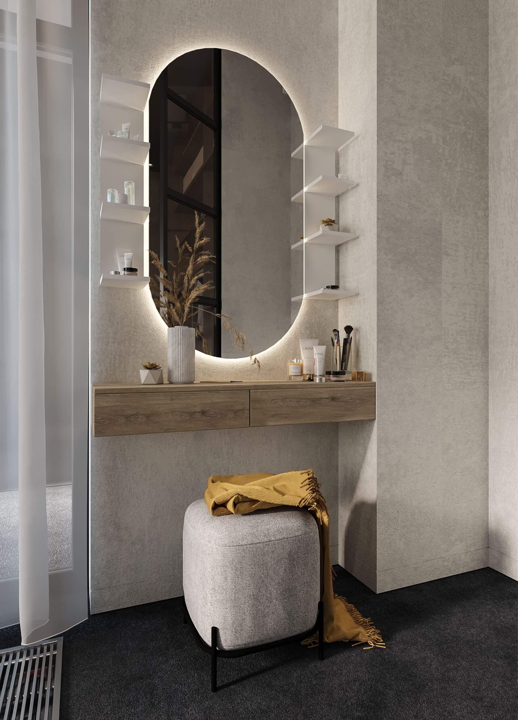 Интерьер спальни. Туалетный столик.
