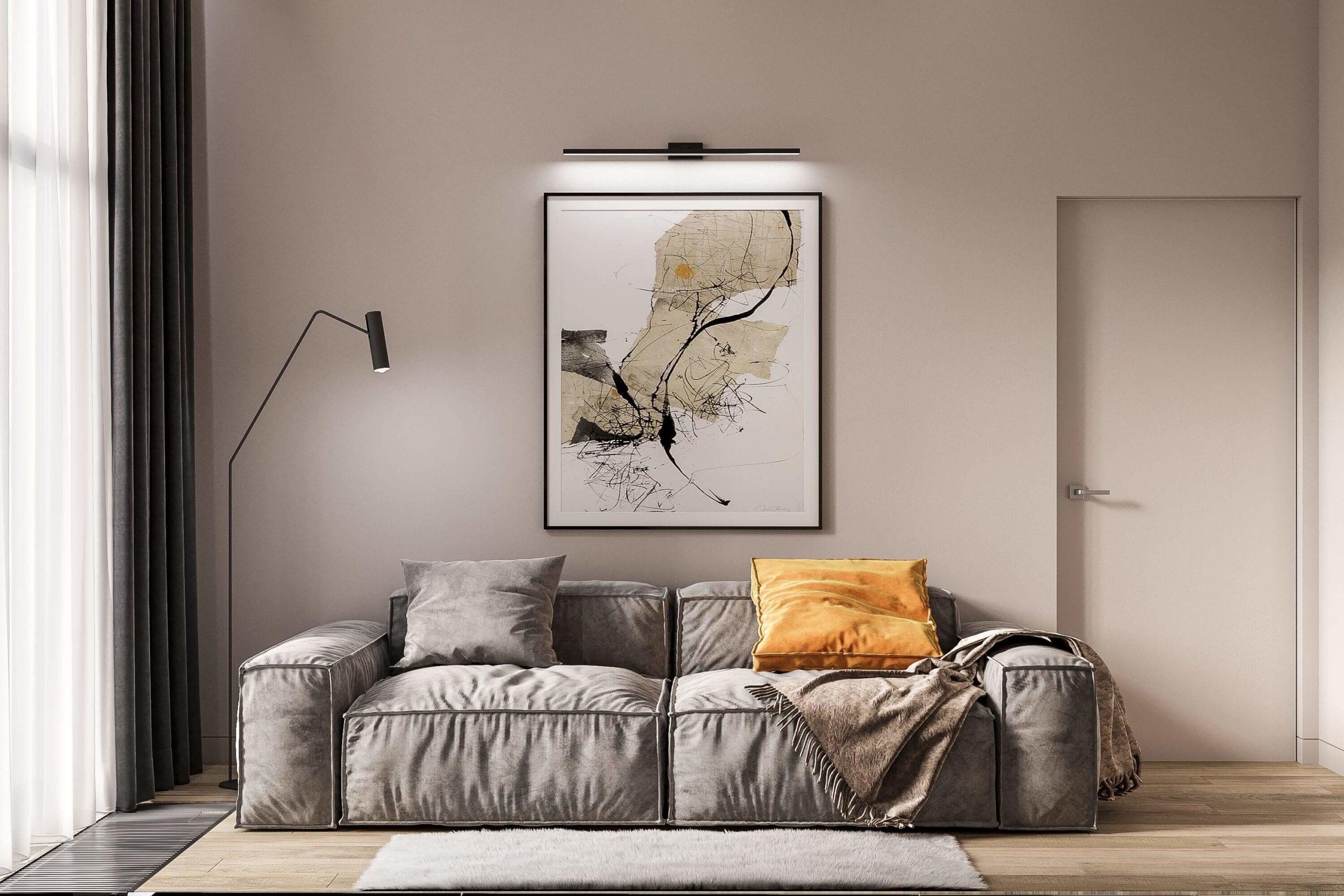Дизайн гостевой спальни. Диван. Вид 1.