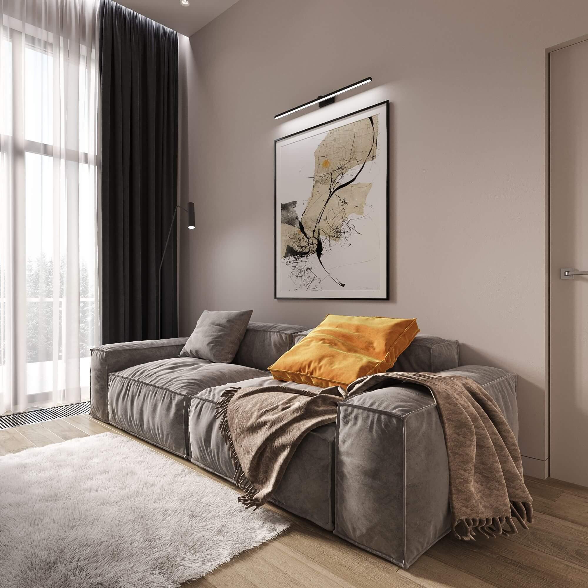 Дизайн гостевой спальни. Диван. Вид 3.