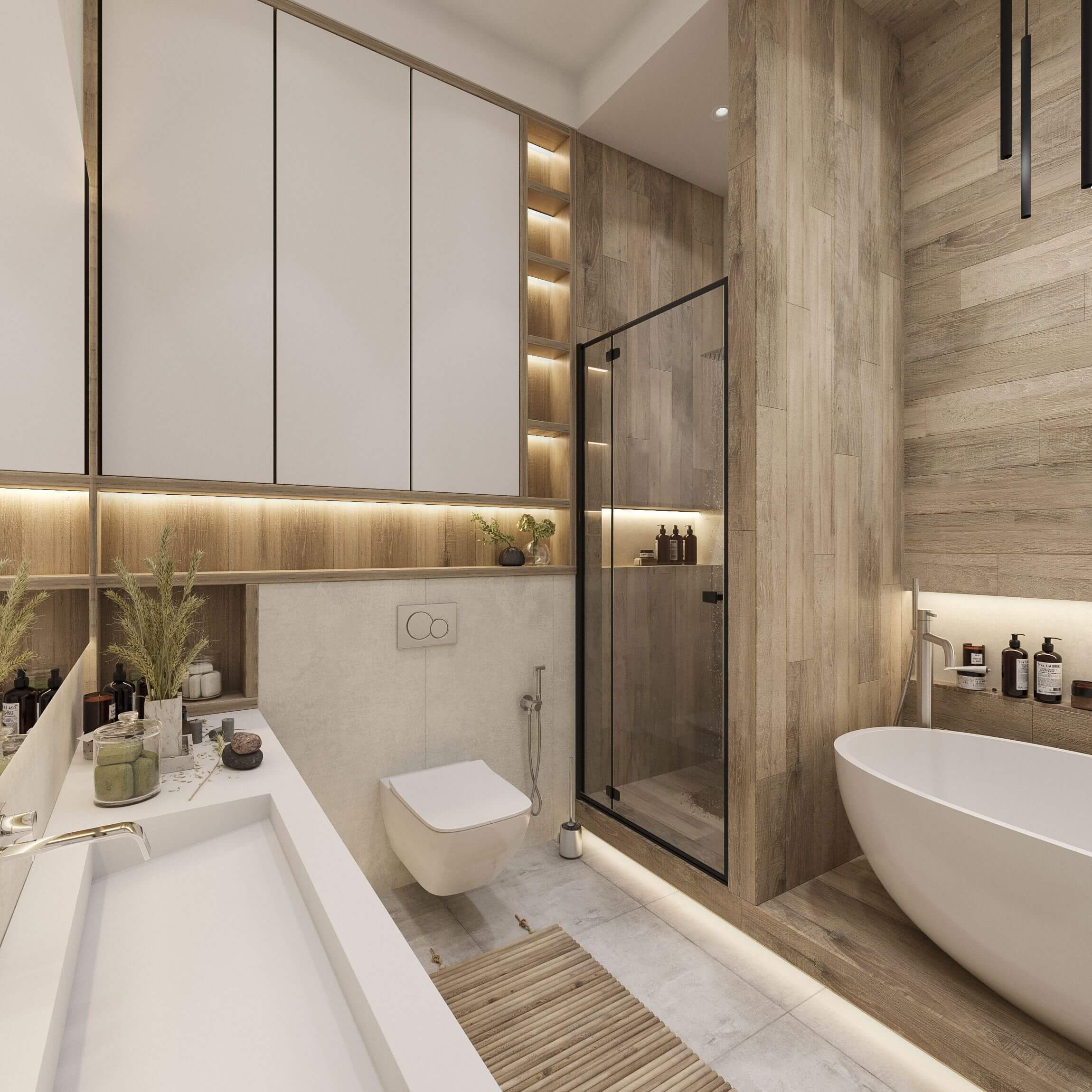 Дизайн ванной. Вид 3.