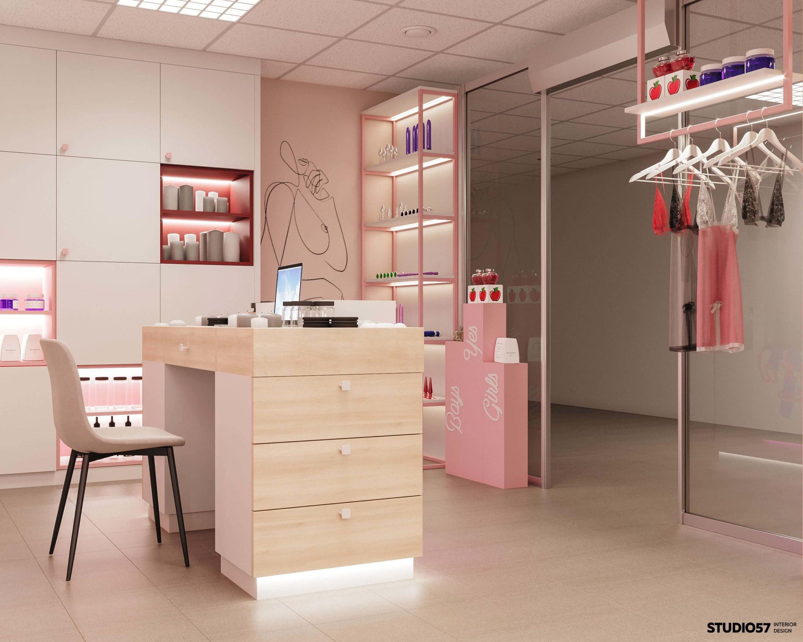 Дизайн магазина игрушек для взрослых. Вид 3.