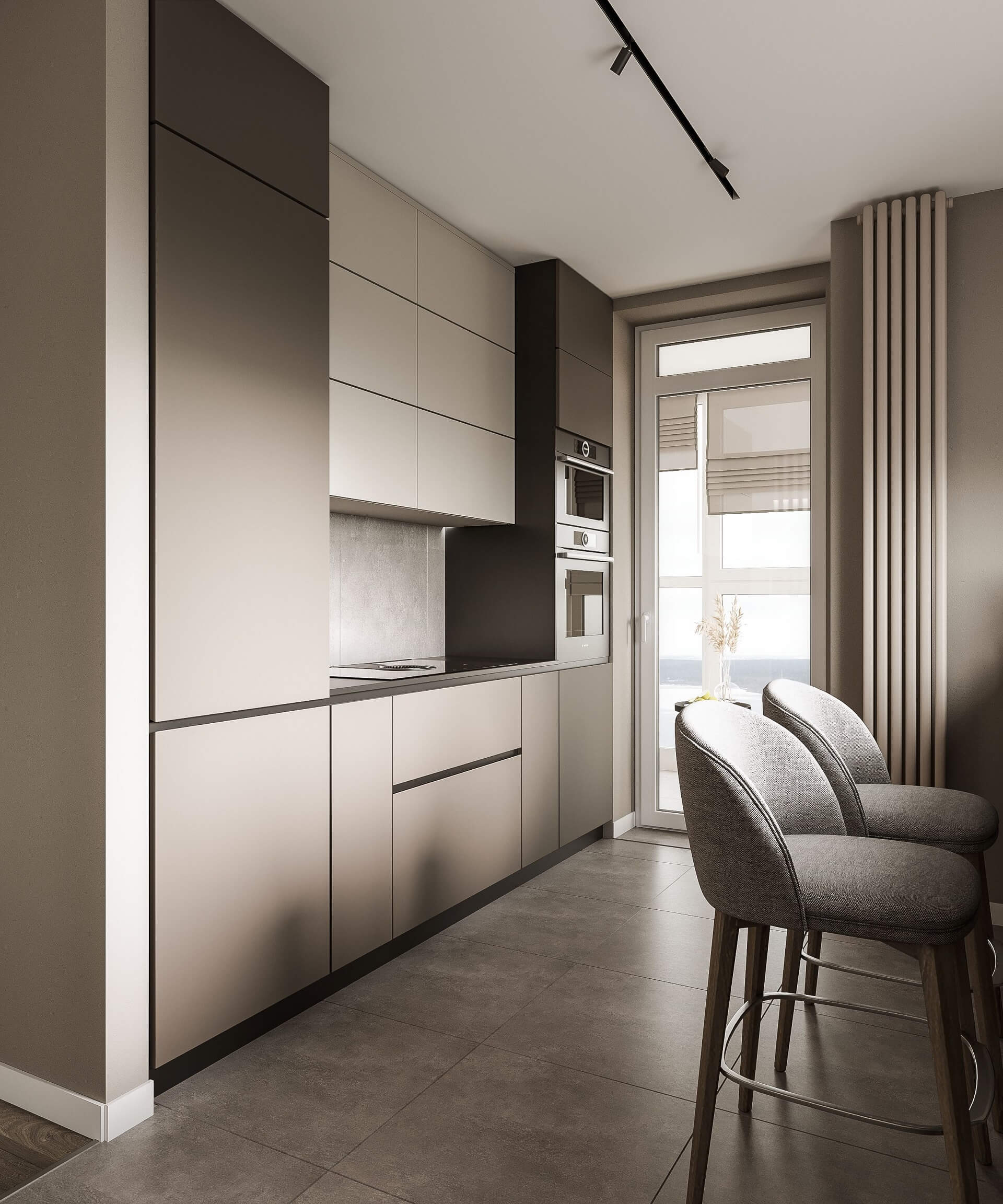 Дизайн кухни-гостиной. Интерьер кухни. Вид 3.