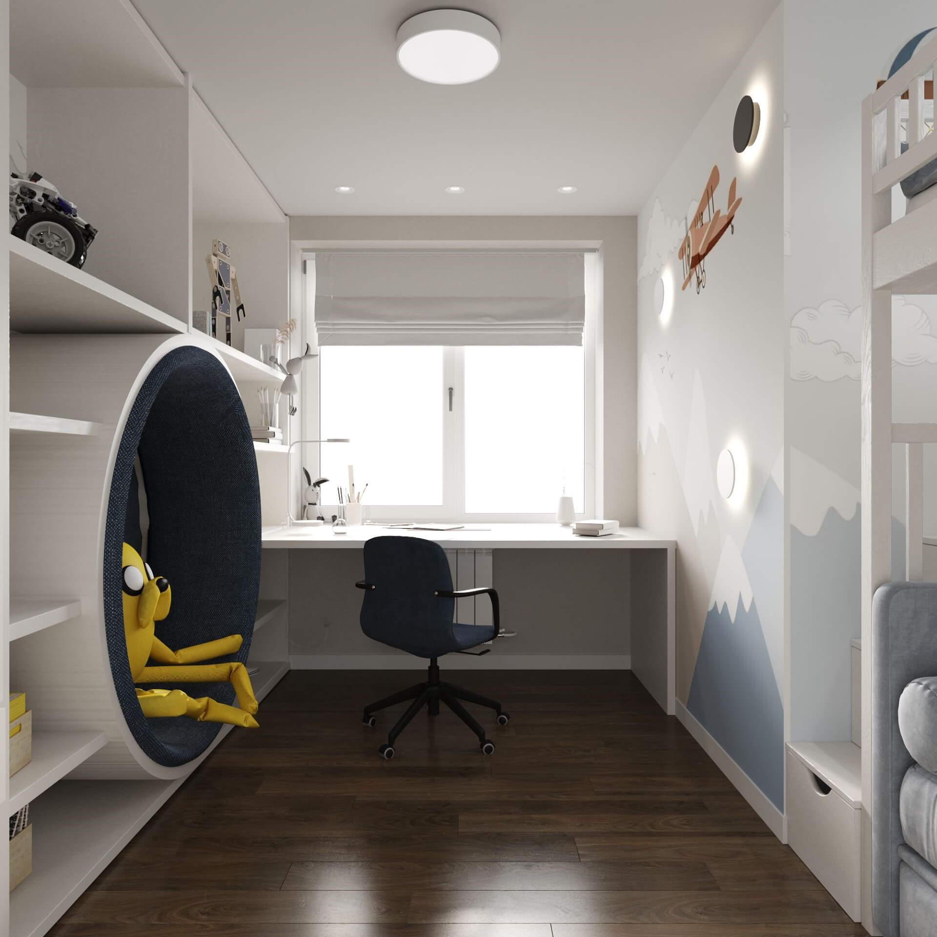 Дизайн детской комнаты. Рабочая зона.