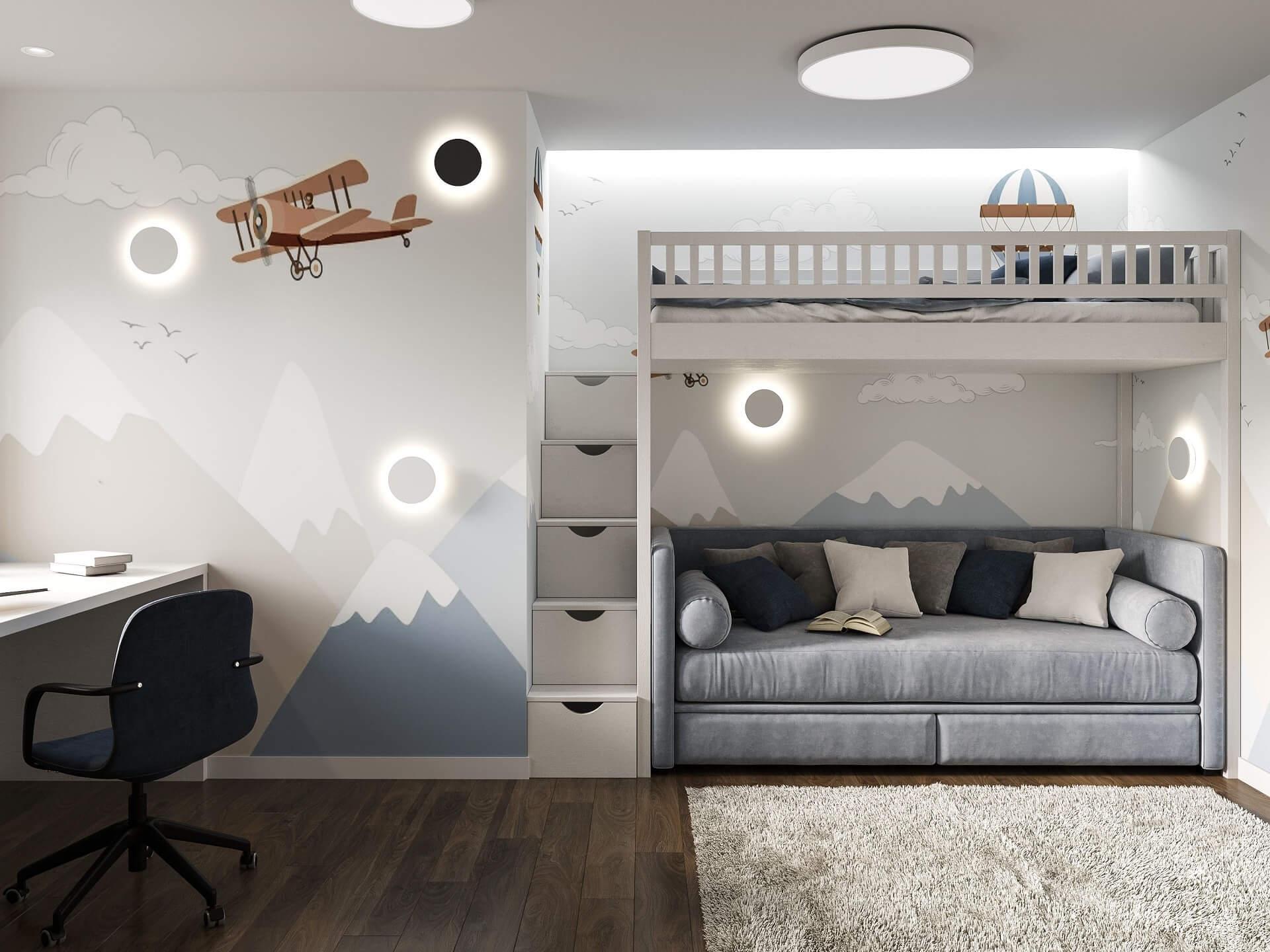 Дизайн детской комнаты. Спальное место.