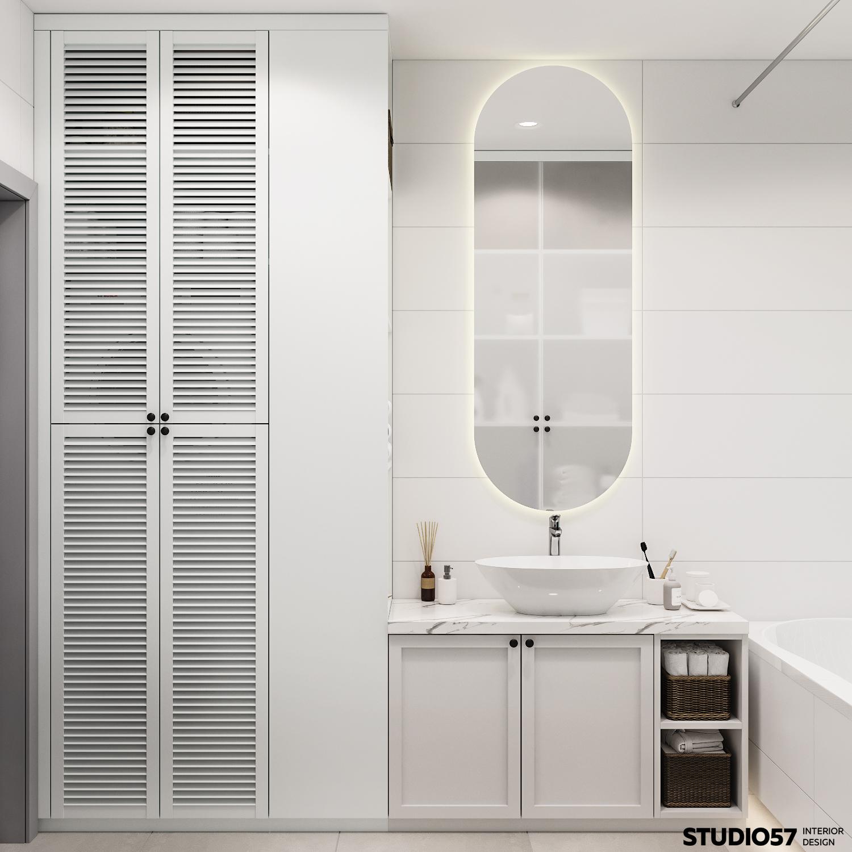 Интерьер ванной комнаты. Вид 1.