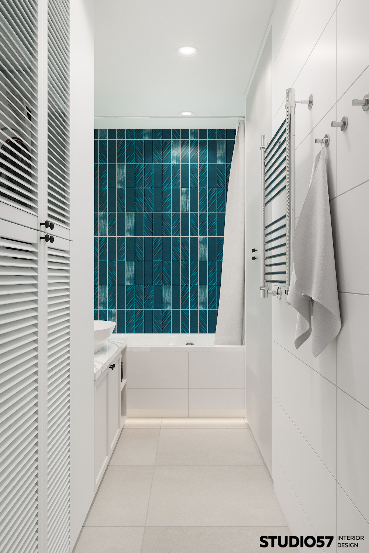 Интерьер ванной комнаты. Вид 2.