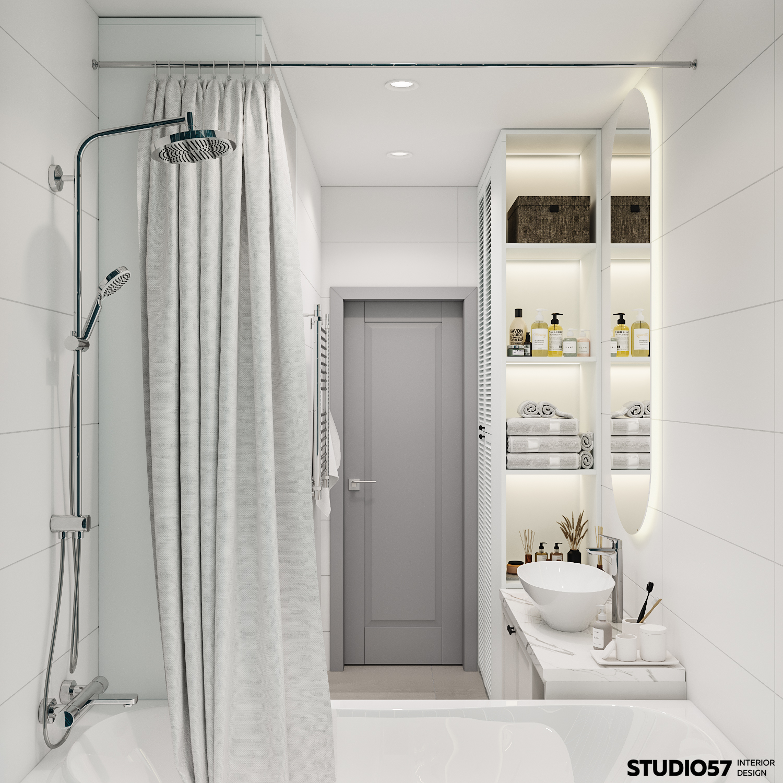 Интерьер ванной комнаты. Вид 3.