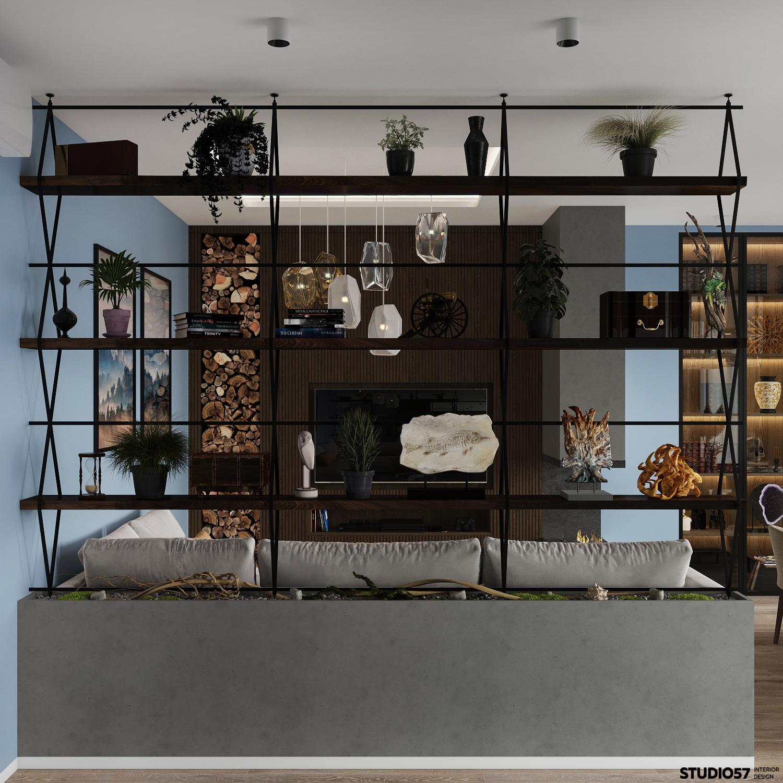 Дизайн гостиной. Вид 3.
