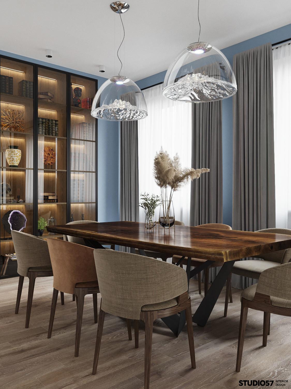 Дизайн гостиной. Столовая группа. Вид 2.
