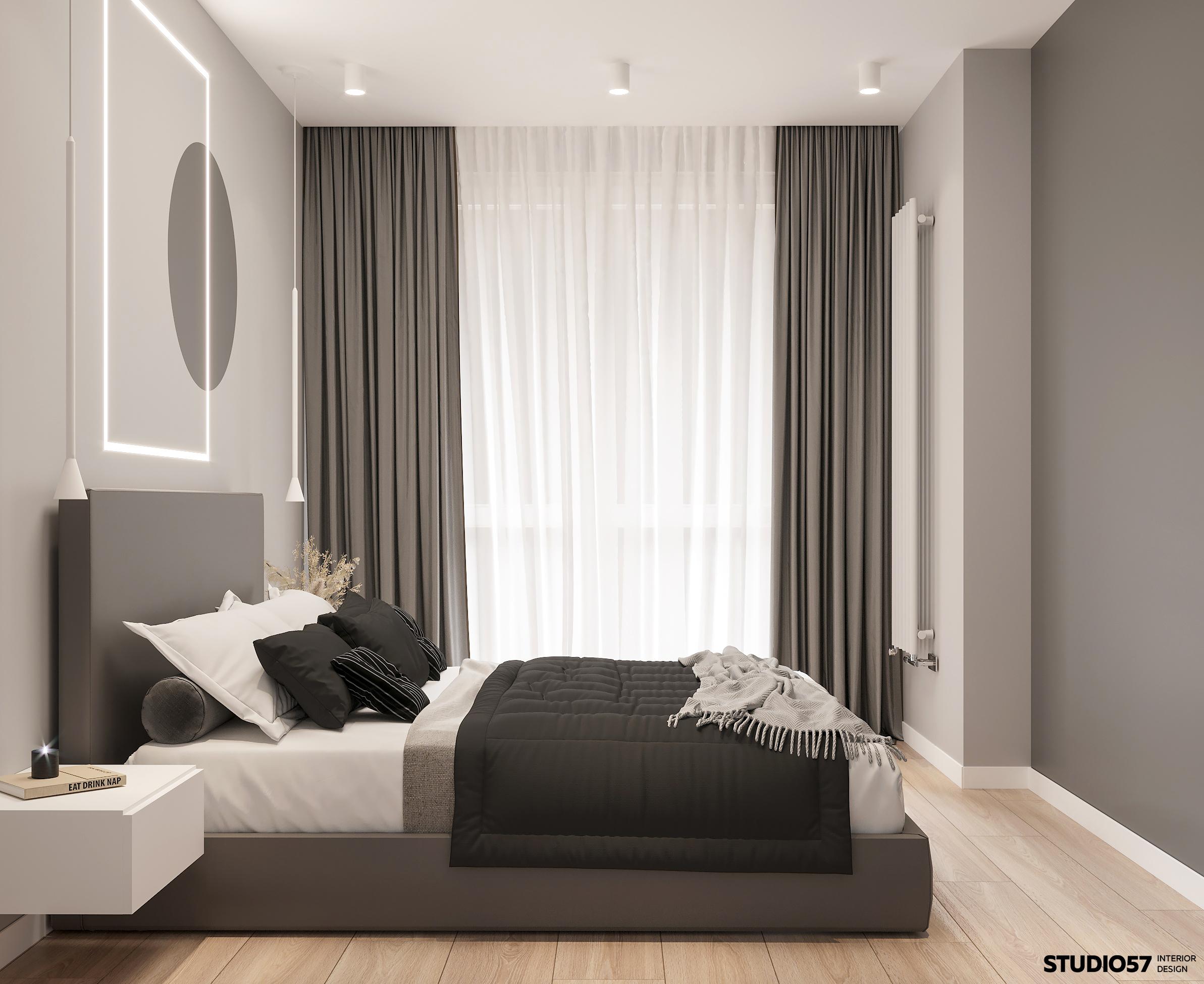 Интерьер спальни. Вид 3.