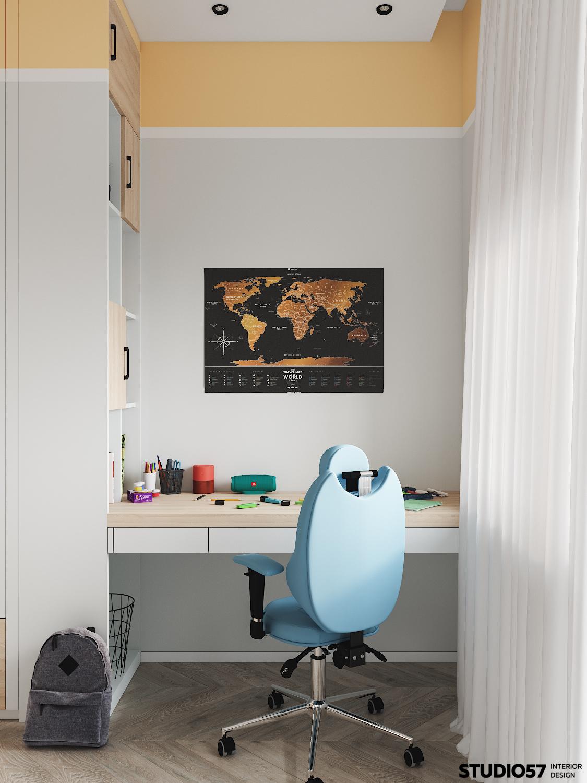 Детская комната 1. Рабочая зона.
