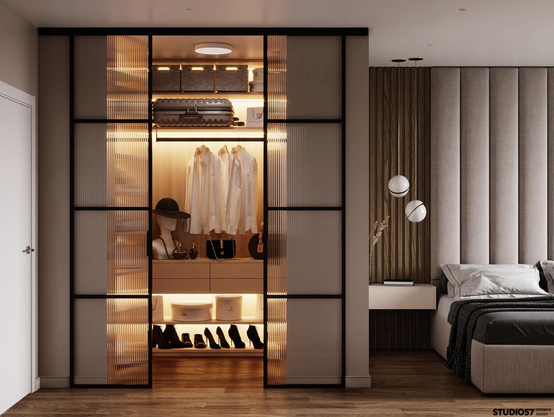 Дизайн спальни. Гардероб.