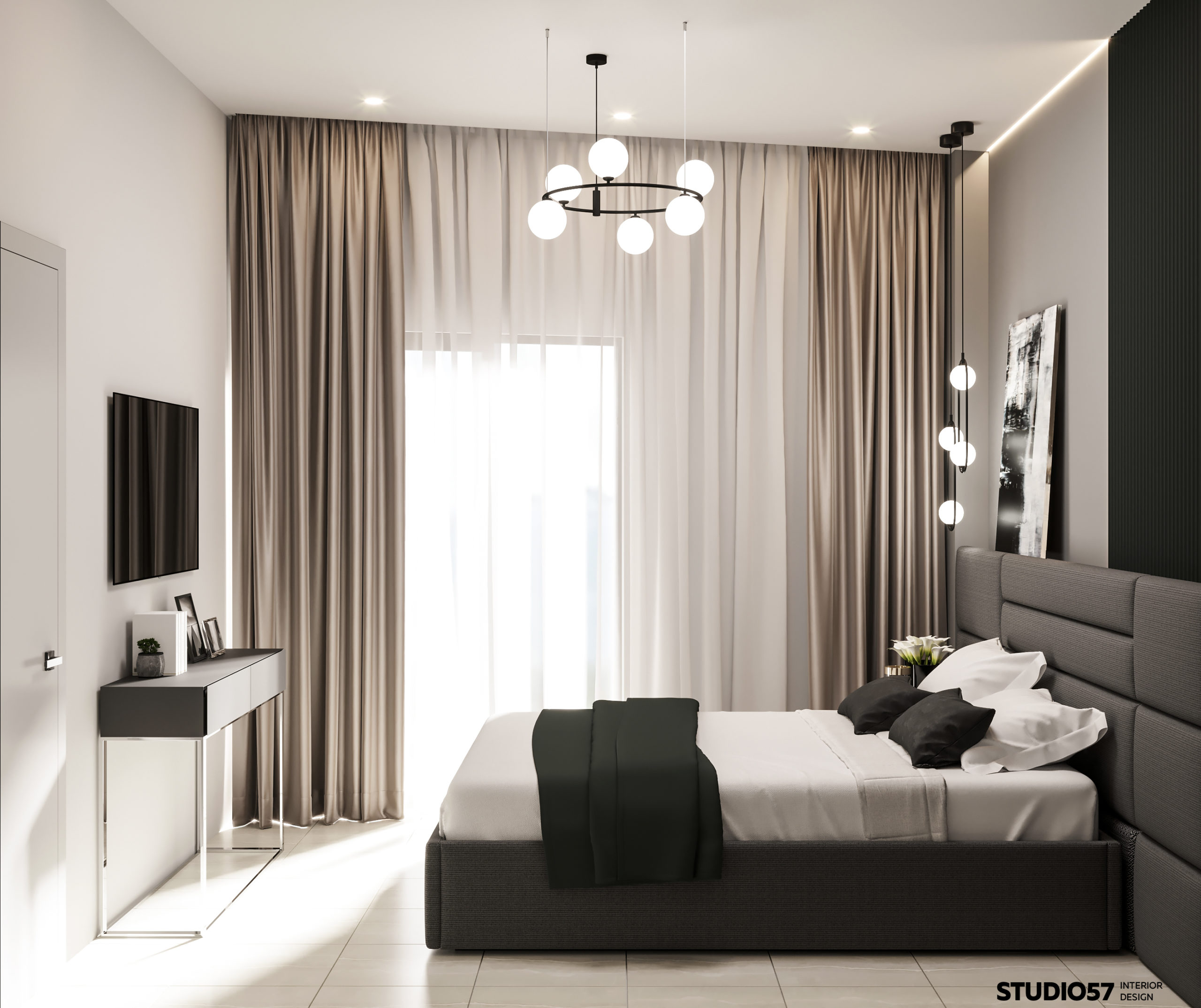 Дизайн спальни. Вид 2.