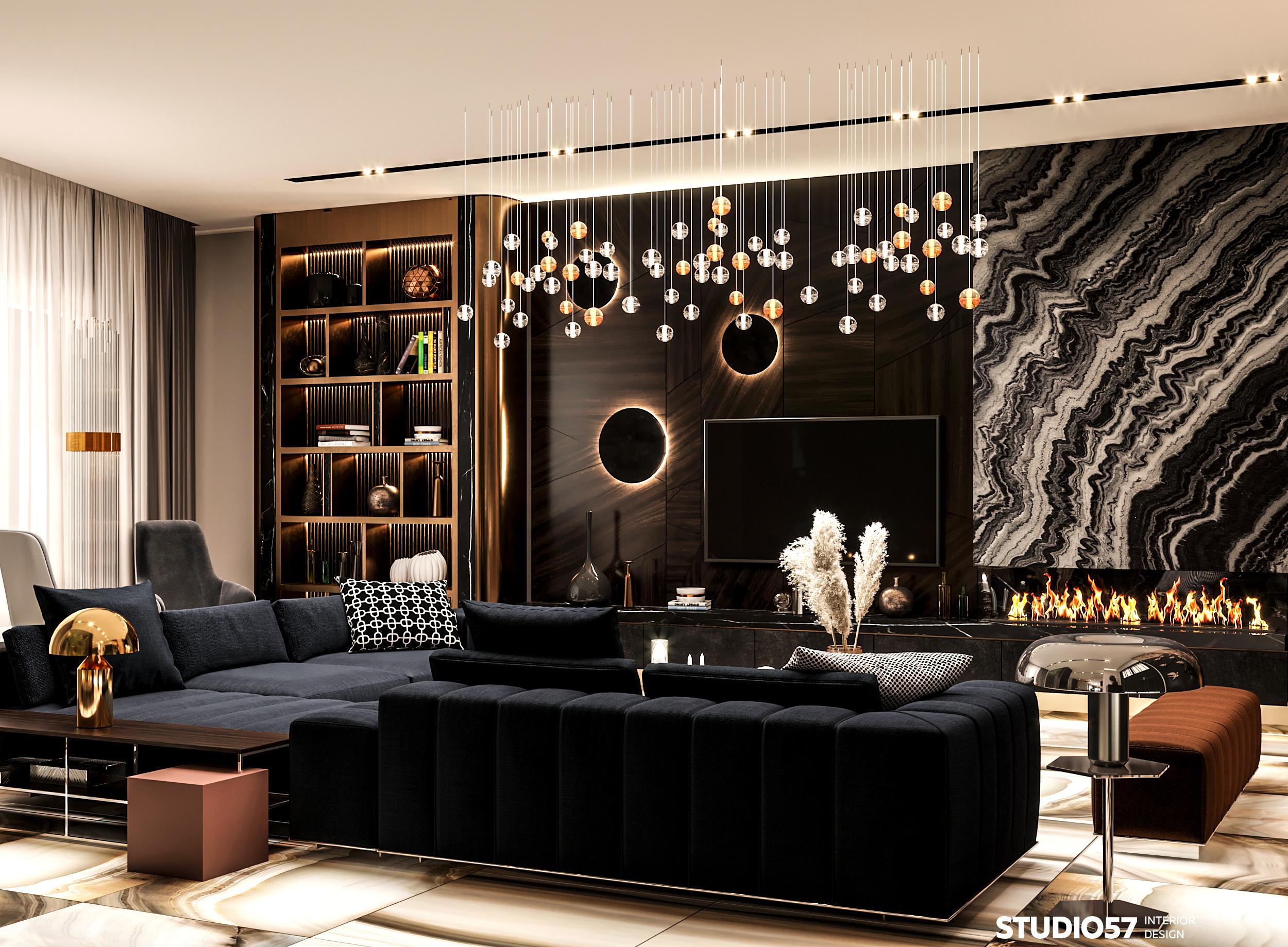 Дизайн гостиной. Вид 1.