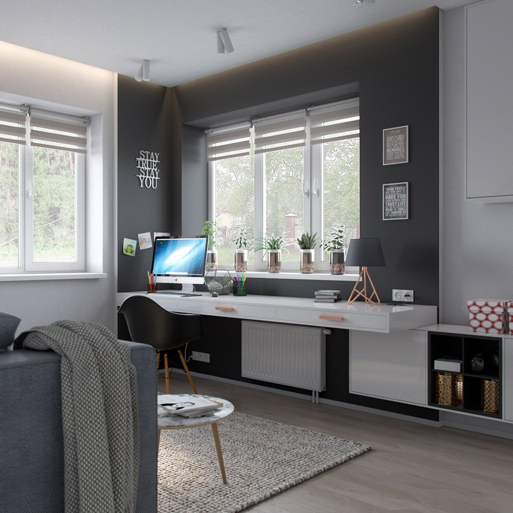 Декор кабинета в доме