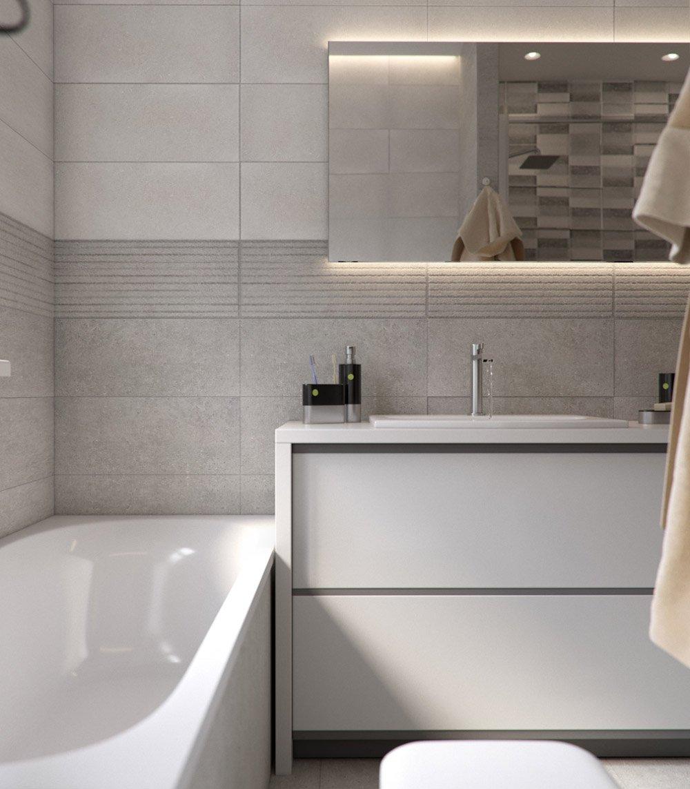 Нежные оттенки для оформления ванной